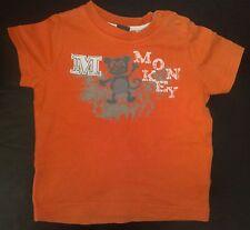 ESPRIT! Shirt kurzarm, orange mit XXL Print Gr. 68! TOP!