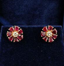 Ruby Yellow Gold Retro Fine Jewellery (1940s)