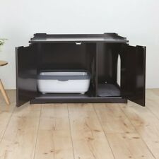 TRIXIE Pet Products Wooden Cat House and Litter Box X-Large in Espresso, 40234