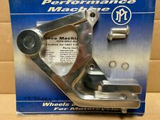 Performance Machine Rear Bracket Polished for 4-Piston Classic Caliper Softail