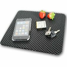 BLACK CAR DASH GRIP MAT 220mm x 190mm Cut To Size Mobile Phone Holder Anti Slip