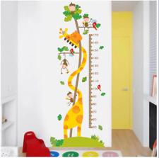 Kids Height Growth Chart Giraffe Height Chart Decal Child Height Wall Stickers