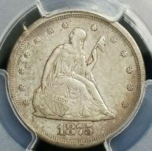 1875-S 20c. PCGS XF-45