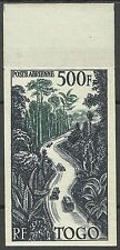 Togo Flore Foret Forest Jungle Non Dentele Gravure Decaris Imperf Proof ** 1954