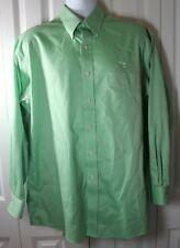 M. Dumas & Sons Men's Large Charleston SC Long Sleeve Green Button Down Shirt