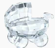 New in Box $65 Swarovski Pram Baby Carriage Clear Crystal #5356956