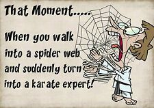 MAGNET Funny Humor Fridge That Moment When You Walk Into a Spider Web Karate