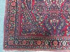 "Antique Sarouk Persian Oriental Rug Hand Woven 1920'S 6' 8"" X 4' 3"""