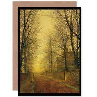 John Atkinson Grimshaw Autumns Glow Blank Greeting Card With Envelope