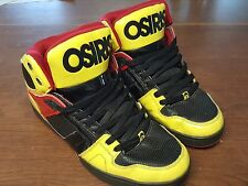 Osiris Black Yellow NYC83 Vulc - Size 10.5 Skate Shoes Skateboarding