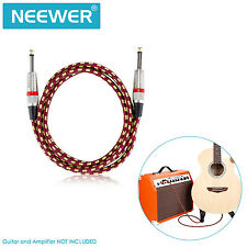 """Neewer 10ft Guitar Cable with Straight 1/4"""" TS to Straight 1/4"""" TS FX#18"""