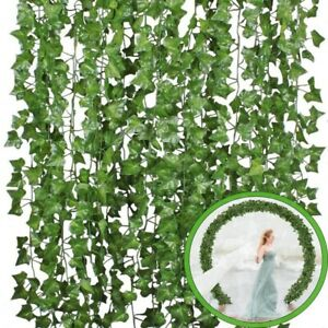Fake Foliage Flowers Artificial Ivy Leaf Plants Vine Hanging Garland Room Decor