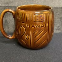 Vintage 1970's Kava Craft Tiki Coffee Mug HAWAII Souvenir Tutu Kane Grandpa