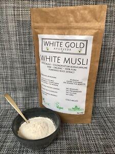 White Musli - Organic Safed Musli Powder For Sexual Health & Wellbeing -  100g