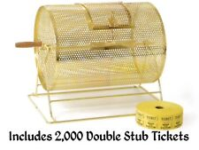 New Brass Raffle Prize Spin Drum Holds 7,500 Tickets