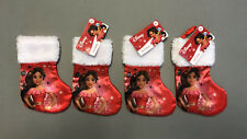 "Disney Princess Elena 8.5"" Satin Christmas Stocking - Lot of 4 - NEW"