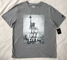 NIKE Men's T-shirt JUST DO IT NYC Statue of Liberty Grey 914292 NWT $30 2XL