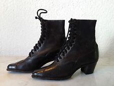 alte Schuhe Kinderschuhe Lederschuhe Schnürstiefel Lederstiefel um 1900