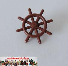 1X Lego 4790 Piraten Schiff Boot Ruder- Steuerrad Rotbraun Brown aus 10210 6253