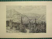 C1890 Antico Stampa ~ Valley Di The Arco Fiume ~ Banff Caldo Molle