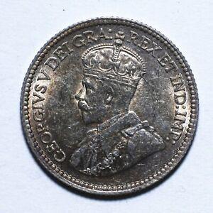 1913 Canada Five 5 Cents - George V with DEI GRATIA - Lot 1238