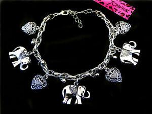 Betsey Johnson Jewelry lovely silver Elephant fashion chain bracelet Xmas gift