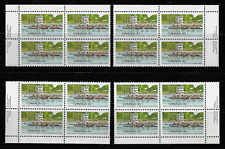 Canada — Matched Set of Plate Blocks — 1982, Royal Canadian Henley #968 MNH