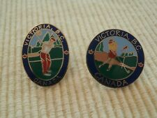 1996 Victoria BC Golf Enamel Metal Lapel Oval or Round Pin