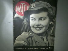 JOURNAL MATCH : DEC. 1939 : FRONTS DE GUERRE/ MAURICE CHEVALIER