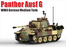 WW2 German Panzerkampfwagen Panther Tank World War 2 II moc WWII blocks Germany