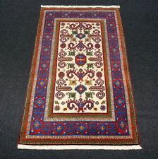Orient Teppich Kazak 139 x 86 cm Kasak Beige Handgeknüpft Perepedil Muster Rug