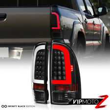 For 05-15 Toyota Tacoma Prerunner Xrunner TRD Black LED Neon Tube Tail Light SET