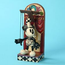 Mickey Mouse Steamboat Willie Marionette Disney Traditions Jim Shore Statue W/S