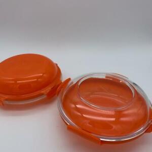 LOCK&LOCK 2 Vorratsdosen Borosilikatglas orange r17