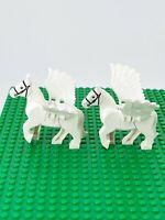 Lego Horses Animals White With Wings Pegasus Harry Potter 75958 Lot Of 2