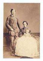 mm463 - Edward VII , Alexandra & Baby George - 1865 - photo 6x4