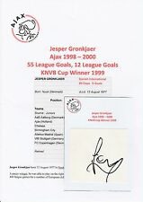 JESPER GRONKJAER AJAX 1998-2000 ORIGINAL HAND SIGNED CUTTING/CARD