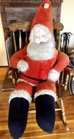 Antique Christmas 5ft LIFE SIZE Plush Santa Doll STORE DISPLAY Rushton? Vintage