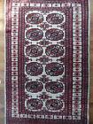 tapis rug ersari tekke turkmen / afghan, rouge blanc, 150 X 92 cm excellent état