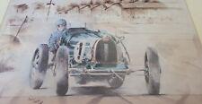 E Bugatti Type 51 at Brooklands by Bob Murray Open Edition Print Mounted