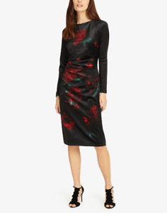 Phase Eight Fenella Dress Floral Print For Women Black/Red  RRP £110