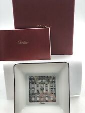 Cartier Porcelain Limoges Plate Trinket Ring Tray Dish Ashtray Platinum Box Incl