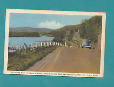 Vintage Postcard Real Photo Quebec Canada Matapedia River Gaspe Old Car Vintage