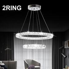 Modern LED Crystal Light Ring Chandelier Pendant Lamp Ceiling Lights Lighting UK