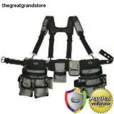 Carpenters Electrician Construction Tool Belt Bag w/ Suspenders Tools Work 1680d