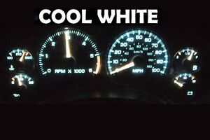 Gauge Cluster LED Dashboard Bulbs Cool White For Chevy Blazer S10 Jimmy 01 05