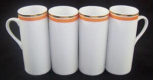 Vintage Set of 4 La Gardo Tackett Schimd Porcelain Demitasse Espresso Cups MCM
