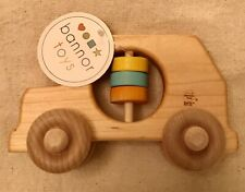 Nwt bannor toys Organic Wooden Suv Rattle ~Usa~