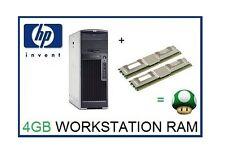 4 GB (2x2GB) de RAM upgrade de memoria ECC para HP Workstation XW8400 & XW8600 sólo