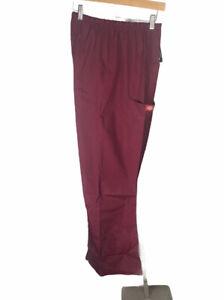 New Dickies Maroon Nurse Scrub Uniform 54206 Pants Size 4 XL